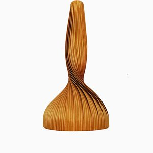 Lampada da soffitto in legno di Hans-Agne Jakobsson, anni '60
