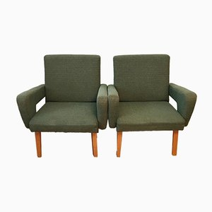 Green Armchairs from Jitona, 1960s, Set of 2