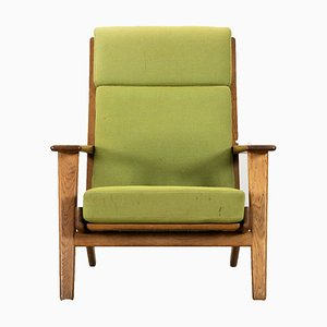 Danish Model GE-240 Oak Lounge Chair by Hans J. Wegner for Getama, 1950s