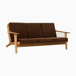Modell GE 290 3-Sitzer Sofa mit Gestell aus Teak von Hans J. Wegner für Getama, 1955