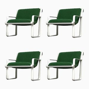 Poltrone modello 2011 di Bruce Hannah & Andrew Morrison per Knoll Inc., anni '70, set di 4