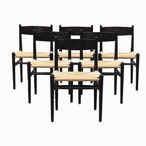 Dänische Modell CH36 Esszimmerstühle von Hans J. Wegner für Carl Hansen & Søn, 1950er, 6er Set