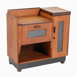 Art Deco Hague School Oak Cabinet by Piet Izeren for De Genneper Molen, 1920s