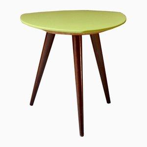Tavolino in similpelle e legno, anni '50