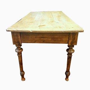 Großer antiker Tisch aus Nussholz, 1800er