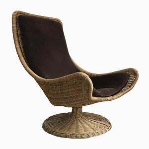 Rattan Lounge Chair by Gerard van den Berg for Montis, 1970s