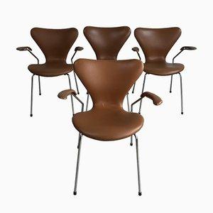 Sedie da pranzo Butterfly di Arne Jacobsen per Fritz Hansen, 1967, set di 4