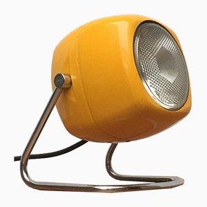 Italienische Space Age Tischlampe aus Metall von Harveiluce, 1970er
