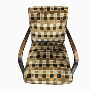 Sessel mit Gestell aus Nussholz im Art Deco-Stil, 1940er