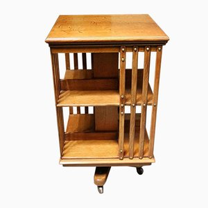 Antique Oak Revolving Bookcase from Maple & Co.