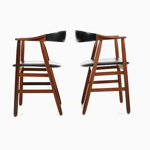 Danish Teak Dining Chairs, 1960s, Set of 2