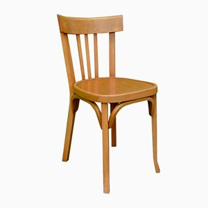 French Beech Dining Chairs from Baumann, 1950s, Set of 6