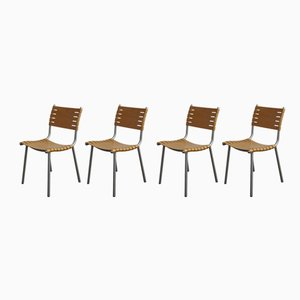 Modernist Plywood Dining Chairs by Ruud Jan Kokke for Harvink, 1980s, Set of 4