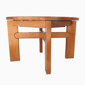 Französischer Esstisch aus Ulmenholz von Maison Regain, 1970er
