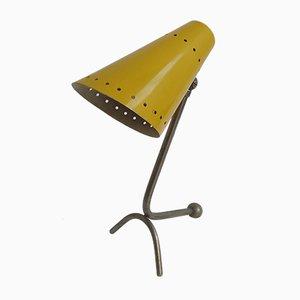 Lámpara de mesa italiana de aluminio, años 50