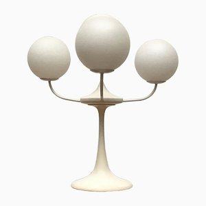 Tischlampe aus Glas & Metall von E.R. Nele für Temde, 1960er