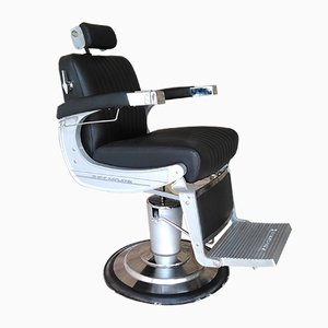 Industrial Chrome Barber's Swivel Chair from Takara Belmont, 1960s