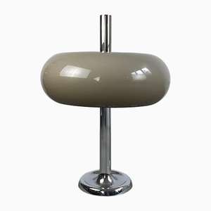 Vintage German Mushroom Chromed Table Lamp by Egon Hillebrand for Hillebrand Lighting, 1960s