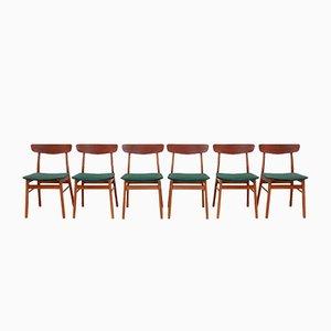 Dänische Esszimmerstühle aus Buche & Teak von Farstrup Møbler, 1960er, 6er Set
