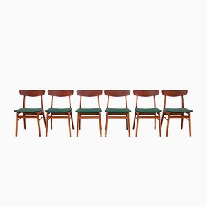 Danish Beech and Teak Dining Chairs from Farstrup Møbler, 1960s, Set of 6