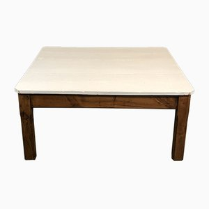 Vintage Minimalist French Fir Coffee Table