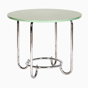 Chrome Plating and Steel Side Table from Slezak, 1930s