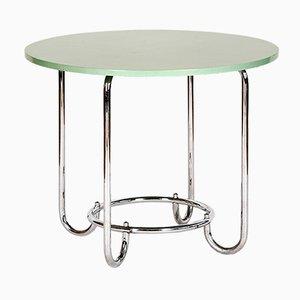 Tavolino in acciaio e metallo cromato di Slezak, anni '30