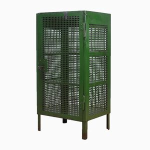 Industrial German Iron and Plywood Cabinet, 1950s