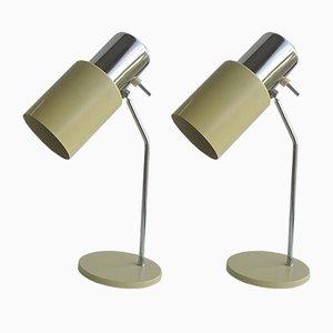 Lampes de Bureau 1636 en Aluminium et Chrome par Josef Hurka pour Napako, 1960s, Set de 2