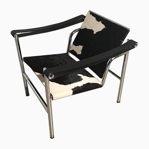 Vintage Pony Hide Armchair, 1980s
