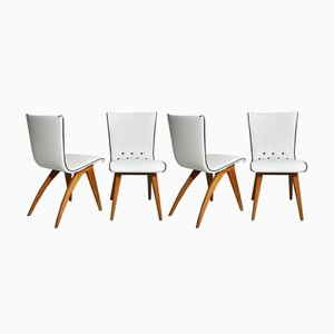Scandinavian Modern Beech Swing Dining Chairs from Coulemborg, 1949, Set of 4