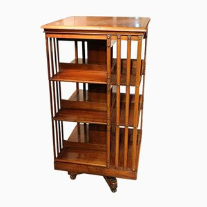 Antique Walnut Revolving Bookcase from Maple & Co.