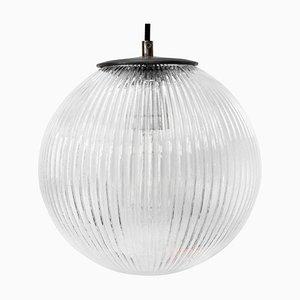 Lampada vintage in vetro e metallo trasparente
