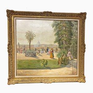 Peinture à l'Huile Rome par F. Raibaud, 1882