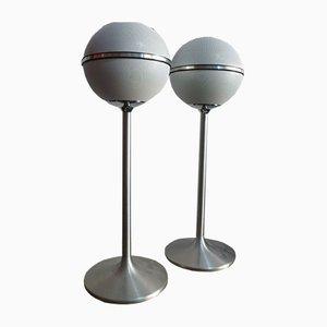 Audiorama 5000 Globe Lautsprecher von Grundig, 1970er, 2er Set