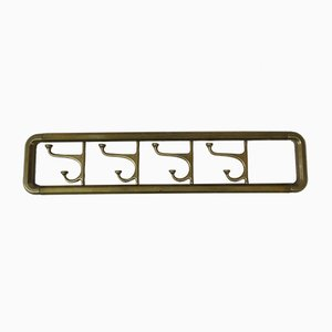 Art Deco French Brass Rack with Pivoting Hooks
