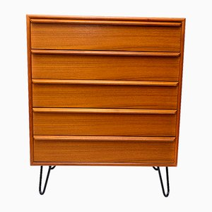 Danish Steel & Teak Chest of Drawers from Gasvig Møbler, 1960s