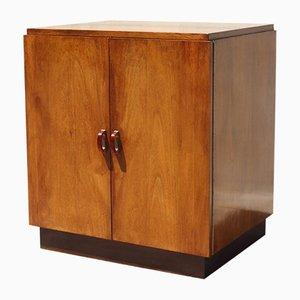 Art Deco Style Walnut Veneer & Bakelite Cabinet, 1950s