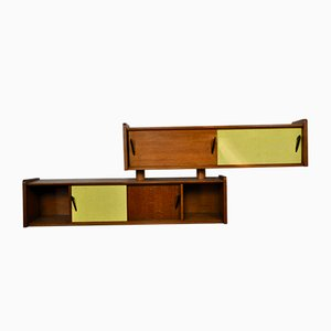 Vintage French Wooden Wall Mounted Shelves, 1970s