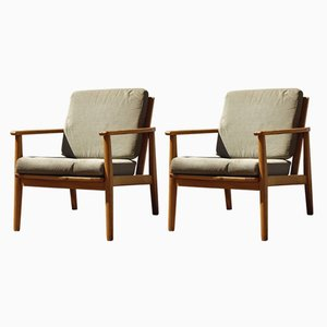 Vintage Scandinavian Easy Chairs, 1960s, Set of 2