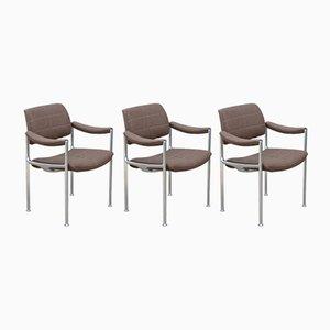 Stühle mit Gestell aus Aluminium & Wollbezug von Miller Borgsen für Röder Söhne, 1960er, 3er Set