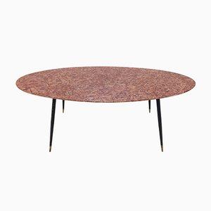 Table Basse Mid-Century en Marbre, Italie, 1950s