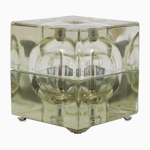 Minimalist Italian Glass & Iron Table Lamp by Alessandro Mendini for Fidenza Vetraria, 1968