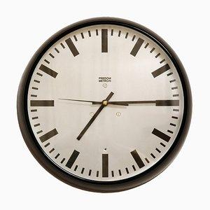 Reloj de pared modelo TYP Z-857 en negro de Metron, 1972