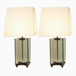 Vintage Table Lamps by Jean Boris Lacroix, 1930s, Set of 2