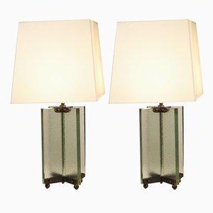 Vintage Tischlampen von Jean Boris Lacroix, 1930er, 2er Set