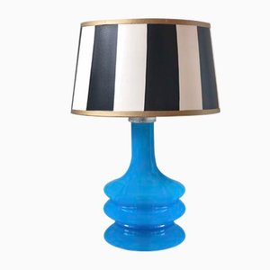 Modernist Turquoise Glass Table Lamp by Gert Nyström for Fagerhult Sweden, 1960s