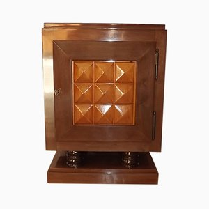 Art Deco French Mahogany Cabinet by Gaston Poisson, 1940s