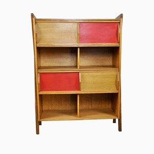 Französisches Mid-Century Bücherregal aus Holz, 1960er