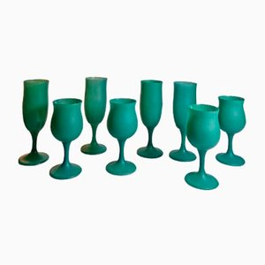 Polnisches Geschirr aus Milchglas von Krosno, 1980er, 8er Set